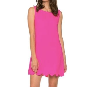 Mittoshop Pink Scallop Hem sleeveless Dress
